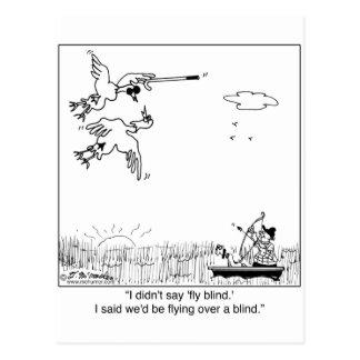 Cartão Postal Cortinas de voo do pato