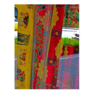 Cartão Postal Cortinas portáteis do templo