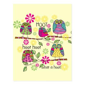 Cartão Postal Coruja de Hootie
