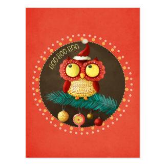 Cartão Postal Coruja do Natal