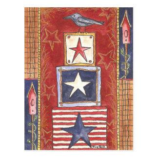 Cartão Postal Corvo em estrelas