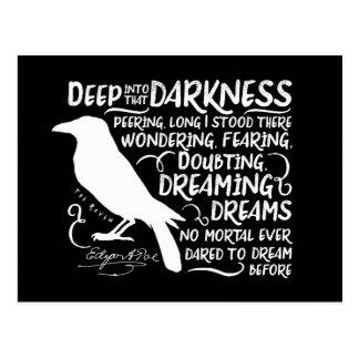 Cartão Postal Corvo (profundamente nessa escuridão) por Edgar