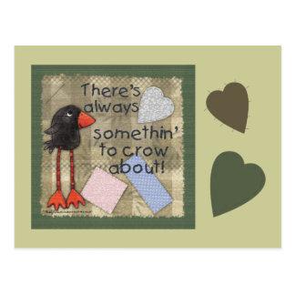 Cartão Postal Corvo-Somethin' equipado com pernas longo a cantar