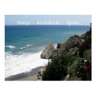 Cartão Postal Costa de Nerja, Andalucía