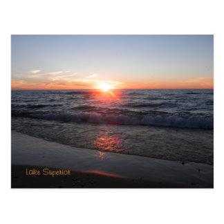 Cartão Postal costa do Lago Superior