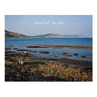 Cartão Postal Costa jurássico, Lyme Regis, Dorset