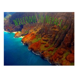 Cartão Postal Costa Kauai Havaí do Nepali
