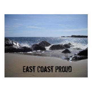 Cartão Postal Costa leste orgulhosa - praia/cartão das rochas