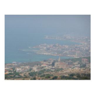 Cartão Postal Costa libanesa