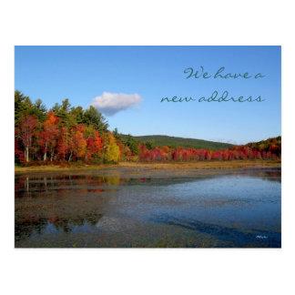 Cartão Postal Costa nova do outono do endereço