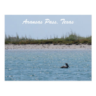 Cartão Postal Costa Postcad de Texas da passagem de Aransas com