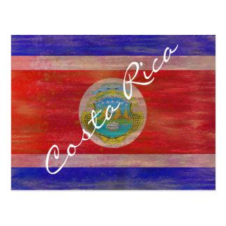 Cartão Postal Costa Rica afligiu a bandeira