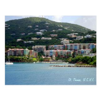 Cartão Postal Costume da cor da ilha