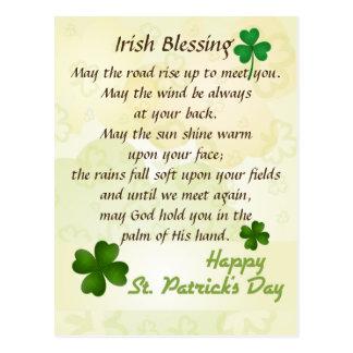 Cartão Postal Costume do dia de St Patrick de bênção irlandês