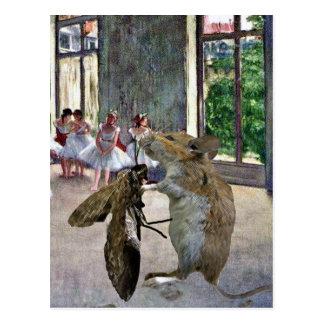 Cartão Postal Cotillion da traça e do rato