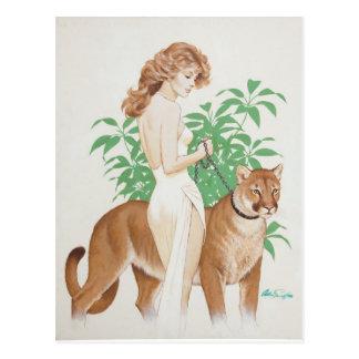 Cartão Postal Cougar PinUp