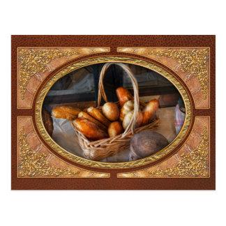 Cartão Postal Cozinha - comida - pão - pão fresco