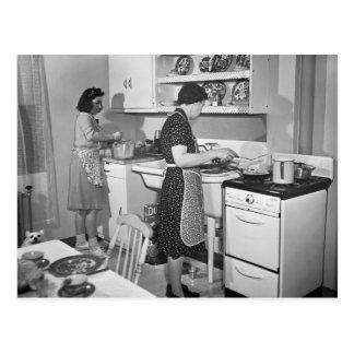 Cartão Postal Cozinhar Home: 1942