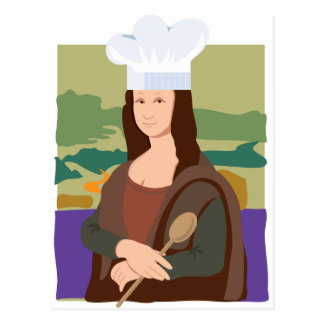 Cartão Postal Cozinheiro chefe de Mona Lisa