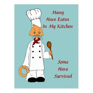 Cartão Postal Cozinheiro chefe do gatinho