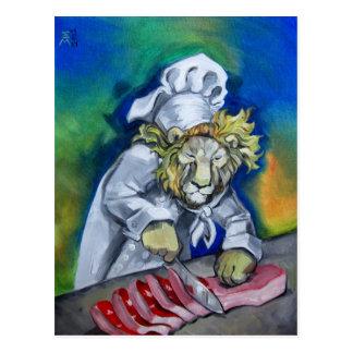 Cartão Postal Cozinheiro chefe do leão