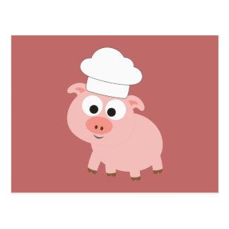Cartão Postal Cozinheiro chefe do porco