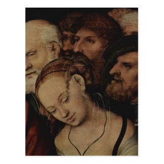 Cartão Postal Cranach D.J., und de Lucas Christus morre