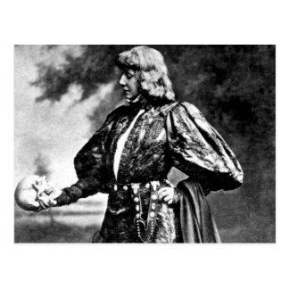 Cartão Postal crânio 1899 de William Shakespeare sarah baird da