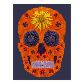Cartão Postal Crânio 1 da flor