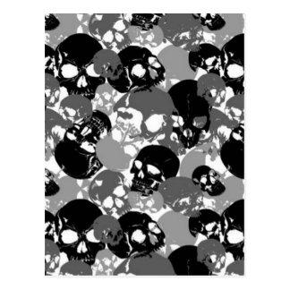 Cartão Postal Crânio Black&White