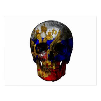 Cartão Postal Crânio da bandeira do russo