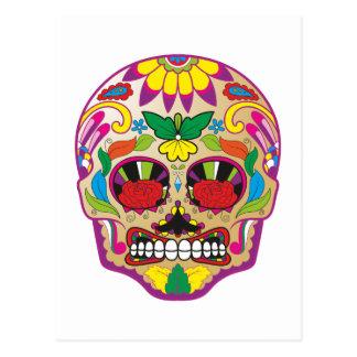 Cartão Postal Crânio de açúcar sugar skull