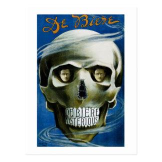 Cartão Postal Crânio de De Biere Mágica