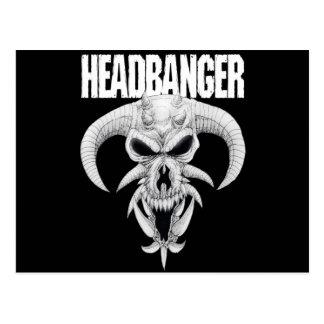 Cartão Postal Crânio do Headbanger