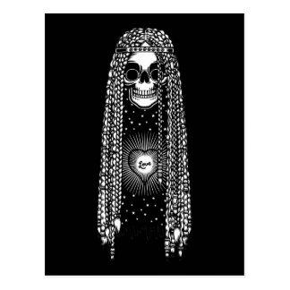 Cartão Postal Crânio do Hippie do amor