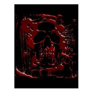 Cartão Postal Crânio do sangue