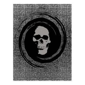 Cartão Postal Crânio no vácuo