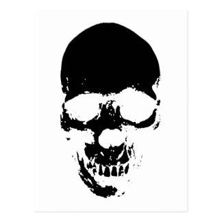 Cartão Postal Crânio preto do Ceifador