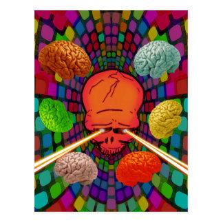 Cartão Postal Crânio psicadélico