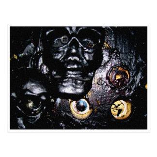 Cartão Postal Crânios e soquetes de olho pretos