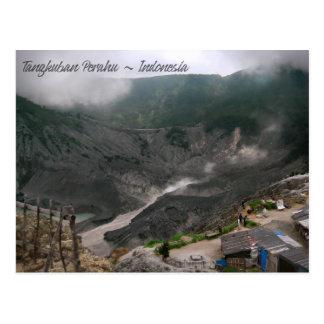 Cartão Postal Cratera Indonésia do vulcão