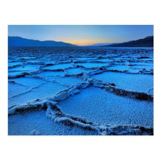 Cartão Postal crepúsculo, o Vale da Morte, Califórnia