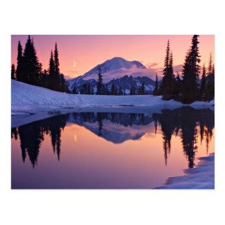 Cartão Postal Crepúsculo, Tarn e lua crescente