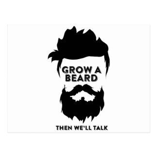 Cartão Postal Cresça uma barba então que nós falaremos