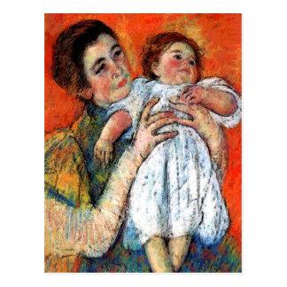 Cartão Postal Criança da mãe dos anúncios do bebê