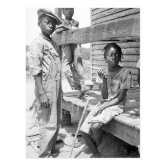 Cartão Postal Crianças do delta de Mississippi