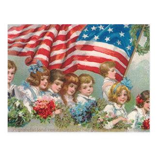 Cartão Postal Crianças do Memorial Day