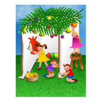 Cartão Postal Crianças que comemoram o banquete judaico de