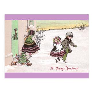 Cartão Postal Crianças que soam a campainha após ter deixado