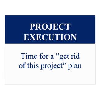 Cartão Postal Criando um plano da execução do projeto (2)